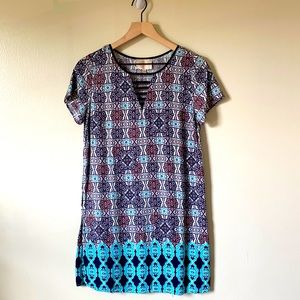 Anthropologie skies are blue multi color dress MP